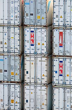 Shipping Containers Stacked at Halifax (via Dean Bouchard at Flickr)