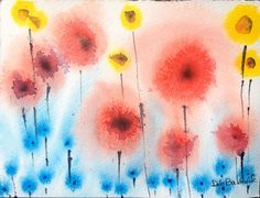 Poppies Original Modern Fine Art Framed and by DistractionsArt