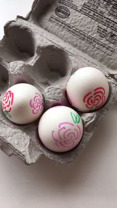 Traditional Rose Easter Eggs