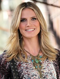 Heidi Klum wows with layered, blonde hairstyle