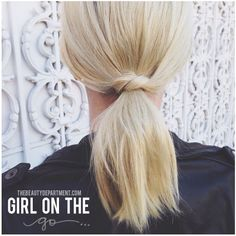 So cute—a fun pony for shorter hair—and so easy. Click on the photo for the super-quick steps.