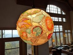 Superb Crochet And Fabric Lampshade. Wow...click Thru And Check This Out. Images