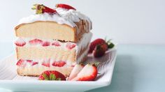 This layered strawberry shortcake dessert is pretty as can be, and is perfect for spring or summer entertaining.