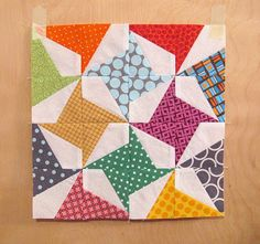Modernized Pinwheel block -- pattern for paper piecing