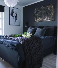 The Best Colors for Your Bedroom: These bedroom Colors Will Improve Your Sleep. bedroom decor ideas, home decor ideas Bedroom Wall Colors, Bedroom Color Schemes, Room Ideas Bedroom, Bedroom Themes, Home Decor Bedroom, Colourful Bedroom, Design Bedroom, Bed Room, Dark Blue Bedrooms