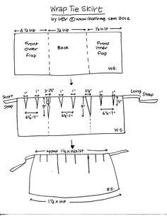 Easy pattern for skirt.