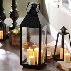 Decorate with old-fashioned flair! Our Black Crown Metal Lantern adds a rustic feel to any space with its classic lantern design and bold black finish! Black Lantern, Led Lantern, Lantern Candle Holders, Wooden Lanterns, Candle Lanterns, Hanging Lights, Fairy Lights, Fall Home Decor, Diy Home Decor