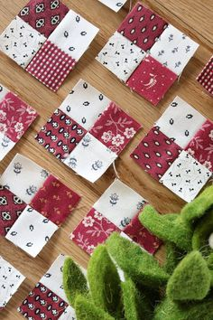 Temecula Quilt Company: Secret Santa Sew Along step 4 Strip Quilts, Patch Quilt, Easy Quilts, Small Quilts, Mini Quilts, Scrappy Quilts, Patchwork Quilt Patterns, Quilt Block Patterns, Pattern Blocks