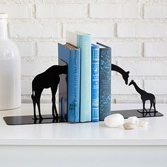 Look what I found at UncommonGoods: Giraffe Family Bookends for $65 #uncommongoods
