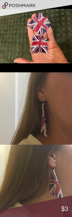Union Jack earrings 🇬🇧British flag earrings Claire's Accessories