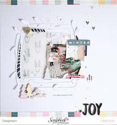 """Layout *JOY* - Scrapbook Werkstatt Januar Kit 2017 """"Winterwald"""" - von Ulrike Dold"""