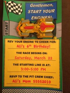 Race Car Birthday Party Ideas | Photo 1 of 16 | Catch My Party