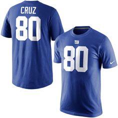 Victor Cruz New York Giants Nike Player Pride Name & Number T-Shirt - Royal Blue - $31.99