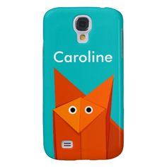 Cute personalized Samsung Galaxy S4 case with an illustration of a funny and cute origami fox looking at you wondering why you are looking at it. Whatever happens, cute little foxy is always happy. This cute S4 case will make a great gift for someone who loves origami and/or cute cartoon animals. $42.95 #s4 #galaxys4 #s4case #galaxys4case