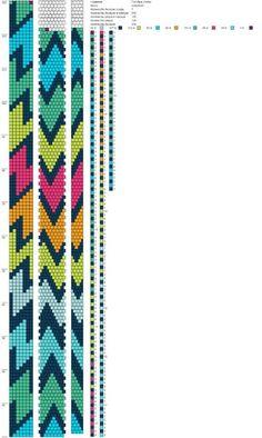 7 around tubular bead crochet rope pattern. Crochet Bracelet Pattern, Crochet Beaded Bracelets, Bead Crochet Patterns, Bead Crochet Rope, Bead Loom Bracelets, Beaded Bracelet Patterns, Peyote Patterns, Jewelry Patterns, Beading Patterns