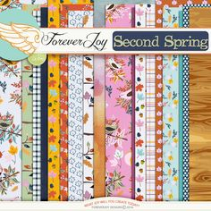 Digital Scrapbooking Kit - SECOND SPRING PAGE KIT | ForeverJoy Designs