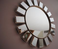 DIY wannabe mirror from ZGallerie. Remodelaholic » Blog Archive Starburst Mirror Tutorial » Remodelaholic