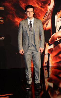 Josh Hutcherson at the Catching Fire premiere in Berlin on November 12, 2013.