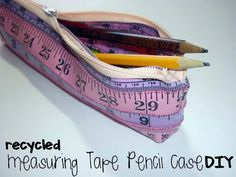 Diy back to school : DIY Recycled Measuring Tape Pencil Case
