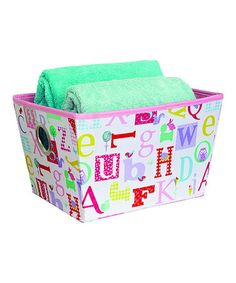 Take a look at this Owlphabet Grommet Medium Storage Bin by Laura Ashley Home on #zulily today!