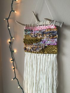 woven wall hanging bohemian tapestries weaving by PineapplePhi