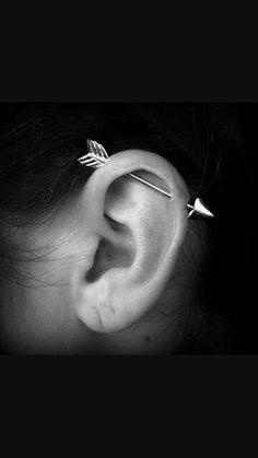 Obsessed with industrial piercings!!!