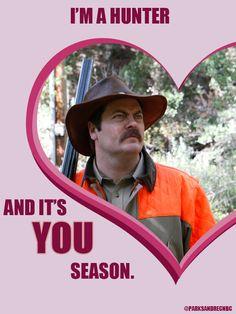 Ron Swanson / Valentine's Day / #ParksandRec