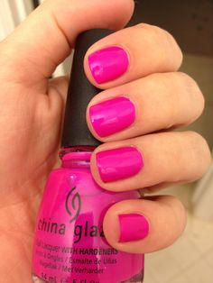 """China Glaze """"Purple Panic""""  My favorite neon for the summer, although much more flattering with a top coat... the matte look isn't always the best"""