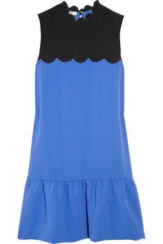 Victoria, Victoria Beckham|Scalloped crepe dress|UK 6 GBP520.83