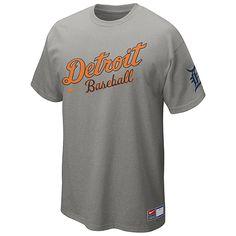 new concept 2f0a4 7a4b5 Detroit Tigers Short Sleeve Away Practice T-Shirt 12 by Nike Dodgers  Baseball, Baseball