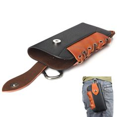 New Multi-function Mountain Climbing Waist Bag Case for iPhone6/6s Plus PU Leather Pouch for Samsung Galaxy Note 5/4 Cases XCT13