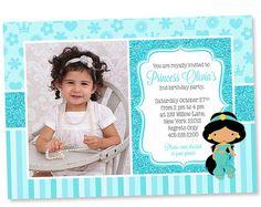 princess jasmine princess jasmine invitation princess princess invitations birthday invitations princess jasmine party