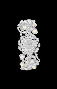 WATCH IN 18K WHITE GOLD, OPALS, PINK SAPPHIRES AND DIAMONDS - CHANEL