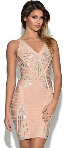 Dream it Wear it - Sequin Embellished Bandage Dress Pink, £99.95 (http://www.dreamitwearit.com/bandage-dresses/sequin-embellished-bandage-dress-pink/)