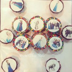 #frozen #Elsa #olaf #snowman #princess #elsaprincess #disney #cupcakes #cuppies #atyummy #disneymovie #animation #bakedgoods