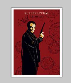 Alternative Crowley supernatural tv serie poster geek wall art home decor geek print