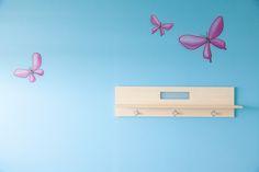 Vlindertjes zijn altijd een leuke toevoeging aan een muurschildering!