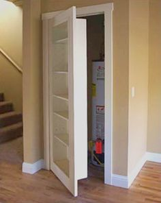 Bookcase hidden closet door