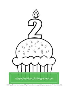 FREE Cupcake Coloring Page – Happy Birthday Coloring Pages Cupcake Coloring Pages, Happy Birthday Coloring Pages, Printables, Free, Print Templates