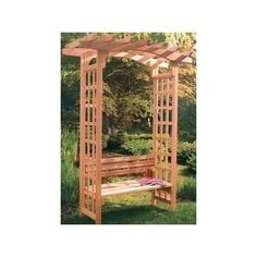 Pergola Gazebos Canopy Kit Plans 7' Durable Red Cedar Trellis Pergolas Garden