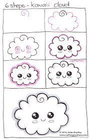 step by step how to draw a kawaii cloud learn to draw Kawaii Drawings, Doodle Drawings, Easy Drawings, Doodle Art, Kawaii Doodles, Cute Doodles, Kawaii Art, How To Draw Doodles Easy, How To Doodle