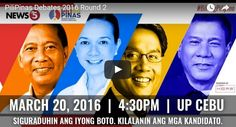 Pilipinas Debates 2016 Round 2 Live Video live at the University of the Philippines campus in Cebu City.