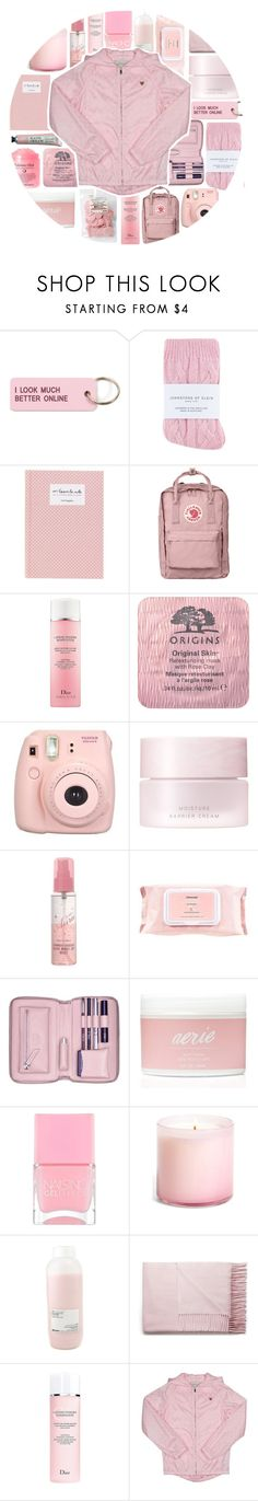 """""""P I N K"""" by just-a-girl-with-thoughts ❤ liked on Polyvore featuring Various Projects, Johnstons, Fjällräven, Christian Dior, Origins, Fujifilm, SUQQU, TONYMOLY, Mamonde and Lili Radu"""