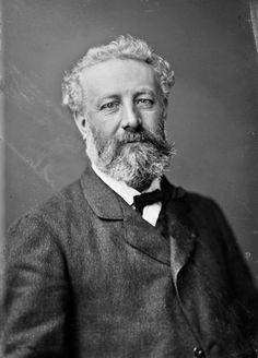 Jules Gabriel Verne, Feb. 1828 - March 1905.   Verne wrote about space, air, and underwater travel before air travel and practical submarines were invented, and before practical means of space travel had been devised. What a surprise he'll see.