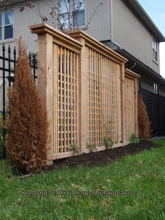 Future project idea for backyard. Privacy wall near fire pit!