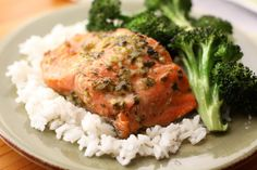 This mojo marinade has become one of our favorite marinades over the past year. I've used it on beef, chicken and now on salmon. The salmon turned out almost unbelievably moist. It was loaded with Wild Salmon Recipe, Salmon Recipes, Fish Recipes, Seafood Recipes, Dinner Recipes, Healthy Recipes, Dinner Ideas, Primal Recipes, Healthy Tips