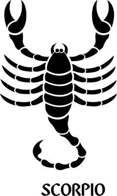 Scorpio Zodiac Sign Symbol Premium Removable Wall Decal - Signs 4 Half