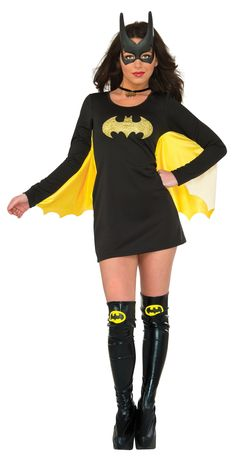 Rubie's Women's DC Comics Costume Cosplay Batgirl Wing Dress (Medium/Large)