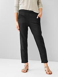 Linen jogger pants - length, ankle-skimming