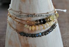 Thin Bracelet with Stones, Gold, Silver, Rose Gold by TiffanyAnneStudios on Etsy https://www.etsy.com/listing/203507346/thin-bracelet-with-stones-gold-silver